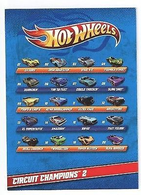 Hot Wheels Circuit Champions Series 2 Blind Bag X 5 Packets